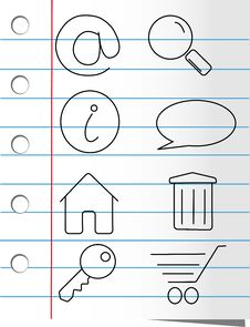 Free Paper Icon Set Royalty Free Stock Photo - 5919145