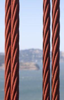 Free Golgen Gate Bridge Cable Stock Photos - 5919363