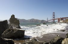 Free Golden Gate Bridge And Baker Beach Royalty Free Stock Images - 5919369