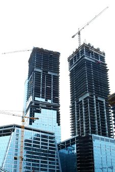 Free Construction Site Over White Royalty Free Stock Images - 5919809