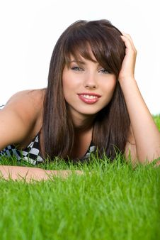 Free Girl Relaxing In The Grass Stock Photography - 5919882