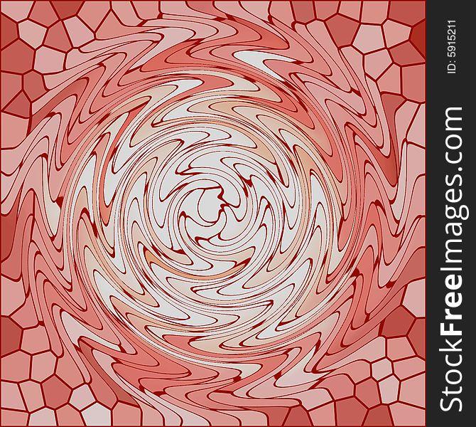 Reddish brown glass twirl