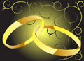 Free Two Rings With Decorations Royalty Free Stock Photography - 5929797