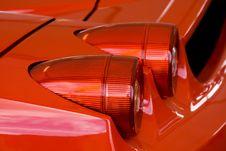 Red Supercar Brakelight Royalty Free Stock Photo