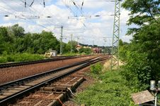 Free Railway Tracks Royalty Free Stock Photography - 5920027