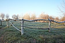 Free Frosted Wooden Fence Stock Photography - 5920132