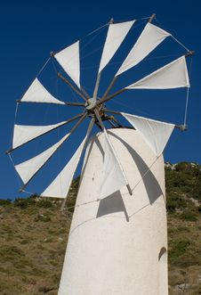 Windmill Crete Greece Royalty Free Stock Images