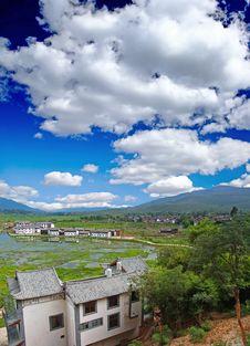 Scenery Landscape Near Lijiang Stock Photo