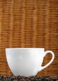 Free White Cup On Tea Leaves Royalty Free Stock Photography - 5922097