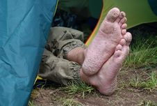 Free Foot And Tent Royalty Free Stock Photos - 5922418