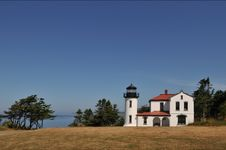 Admiralty Head Lighthouse Royalty Free Stock Photography