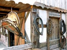 Blacksmith And Horse Item Royalty Free Stock Photography