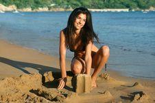 Free Beach Girl Royalty Free Stock Photography - 5923237