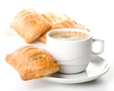 Free Pie And Cup Of Coffee Stock Photos - 5924253