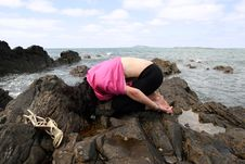 Yoga On The Rocks 6 Stock Image