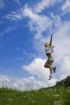 Free Jump On The Sky Royalty Free Stock Image - 5925326