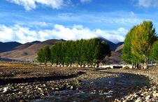 Morning Of Daocheng Royalty Free Stock Photography