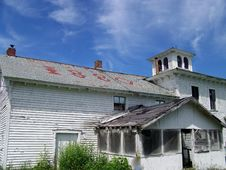 An 1880 S Farmhouse. Royalty Free Stock Photos
