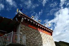 Tibet Style House Stock Photos
