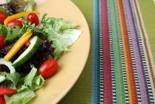 Free Salad On Plate Royalty Free Stock Image - 5926656
