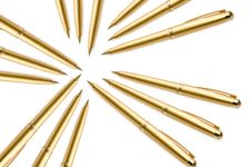 Free Gold Pens Royalty Free Stock Images - 5926819