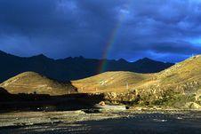 Free Rainbow On Highland Stock Image - 5926851