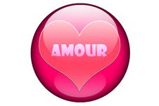 Free Amour In A Pink Glassy Orb Royalty Free Stock Photos - 5927148