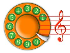 Dial And Music Stock Photos