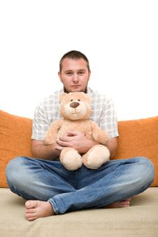 Free Man With Teddybear Stock Image - 5928481