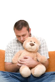Free Man With Teddybear Stock Images - 5928824