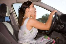 Free Woman In Car Royalty Free Stock Image - 5928826