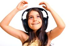 Free Girl Enjoying Music Stock Photography - 5928982