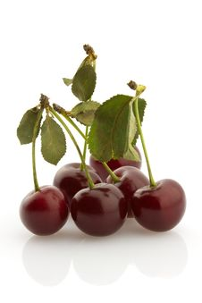 Free Some Cherries With Stems, Isolated Stock Photos - 5929003