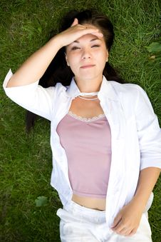 Free Relaxing Woman Royalty Free Stock Photo - 5929055