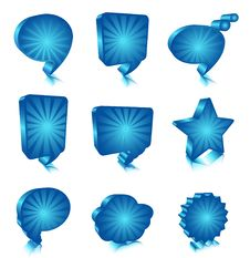 Bubble Icons Stock Images