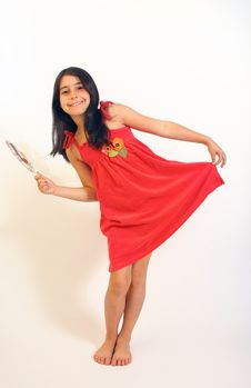 Free Young Girl In Red Dress Stock Photography - 5929172