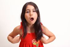 Free Young Girl In Red Dress Royalty Free Stock Images - 5929209