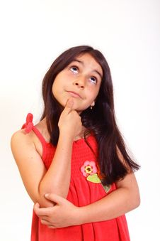 Free Young Girl In Red Dress Stock Images - 5929234
