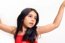 Free Young Girl In Red Dress Stock Photos - 5929253