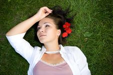 Free Relaxing Woman Royalty Free Stock Images - 5929269