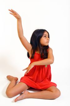 Free Young Girl In Red Dress Royalty Free Stock Image - 5929286