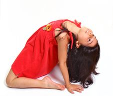 Free Young Girl In Red Dress Royalty Free Stock Photo - 5929305