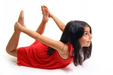 Free Young Girl In Red Dress Royalty Free Stock Photography - 5929317