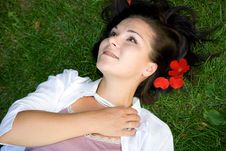 Free Relaxing Woman Royalty Free Stock Photo - 5929505
