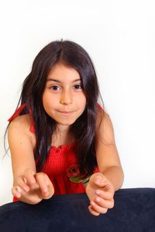 Free Young Girl In Red Dress Royalty Free Stock Photography - 5929557