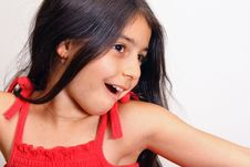 Free Young Girl In Red Dress Royalty Free Stock Images - 5929619