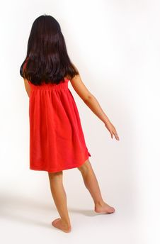 Free Young Girl In Red Dress Stock Photography - 5929622