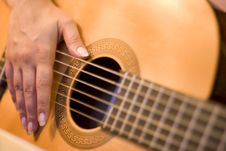 Free Solo On Guitar Royalty Free Stock Photos - 5930898