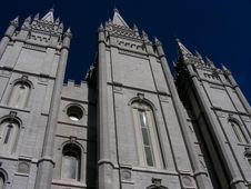 Mormon Temple Royalty Free Stock Photo