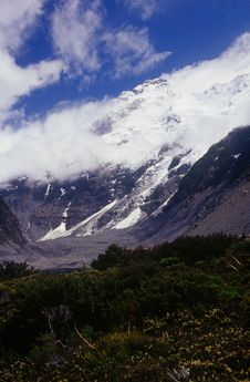 Free Mount Sefton In The Hooker Valley, New Zealand Royalty Free Stock Photography - 5932337